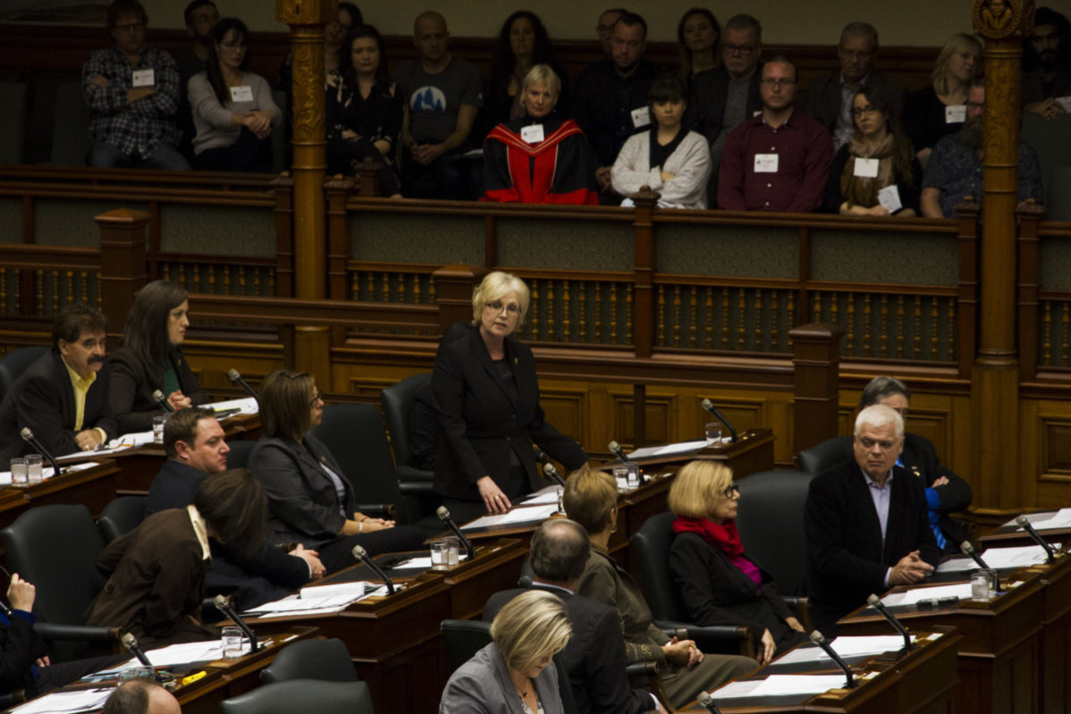 Peggy Sattler, NDP critic of advanced education and skills development, said that $500 is not enough for students who have been impacted due to the college faculty strike. File Photo Kit Kolbegger / The Spare