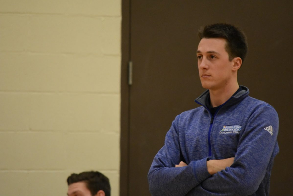 Huskies men's volleyball coach Garrett May was named OCAA Coach of the Year. File photo: Matthew Green / The Dialog