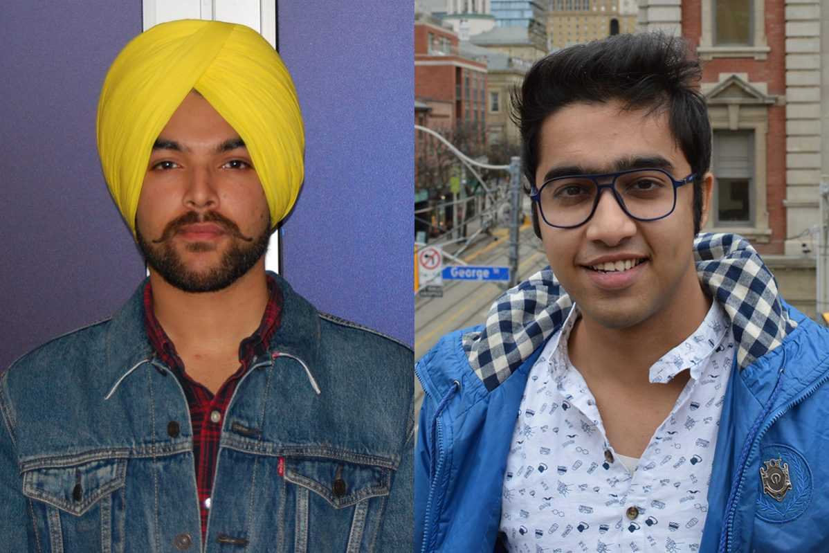 Tanveer Singh (left) and Shashwat Seth (right) are vying to be the next international students representative at the Student Association of George Brown College. Photos: Kevin Goodger and Ashraf Dabie / The Dialog