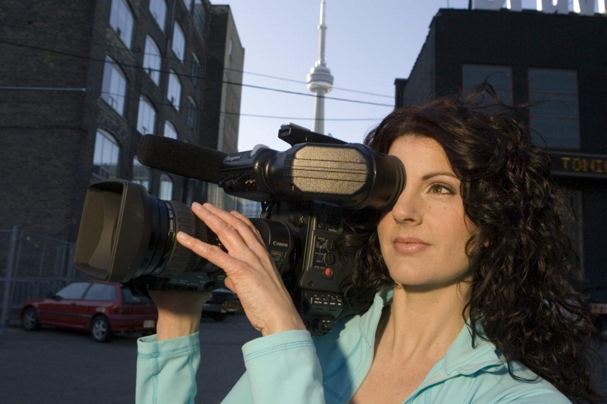 Denise Jones back when she worked at cityTV. Photo: Mark O'Neill