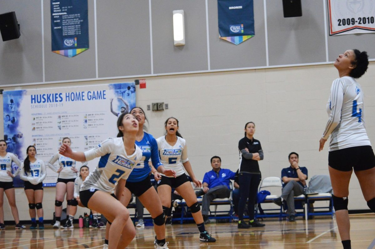 The Huskies women's volleyball team's hard work is earning results.