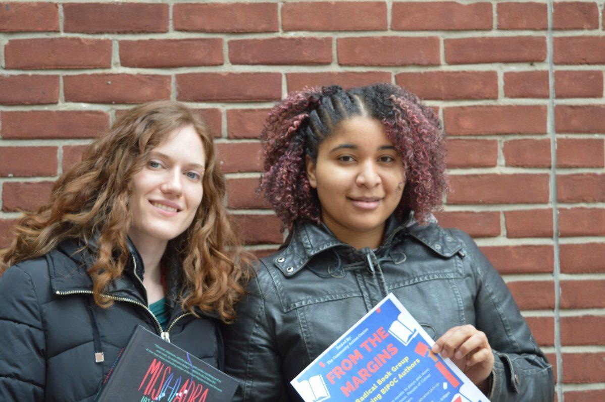 Sarah Alvo, left and Antoinette Salazar, right held From The Margins on Jan. 21. Photo: Nico deVeber / The Dialog