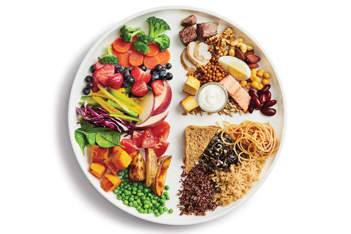 Canada's new food guide encourages people to eat plant-based foods, drink more water, and cook more at home. Photo: Government of Canada.