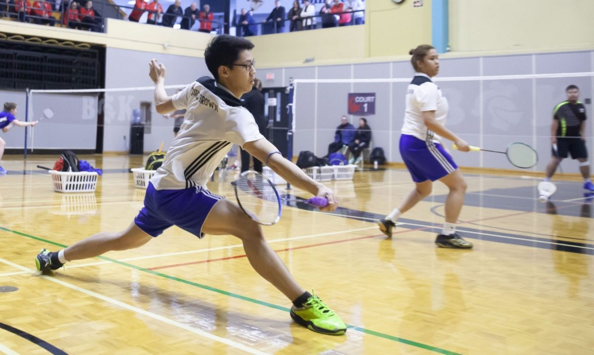 CAPTION: Mika Ra and Angeline Alviar won silver in mixed doubles at the CCAA national badminton championships. Photo courtesy of the CCAA.
