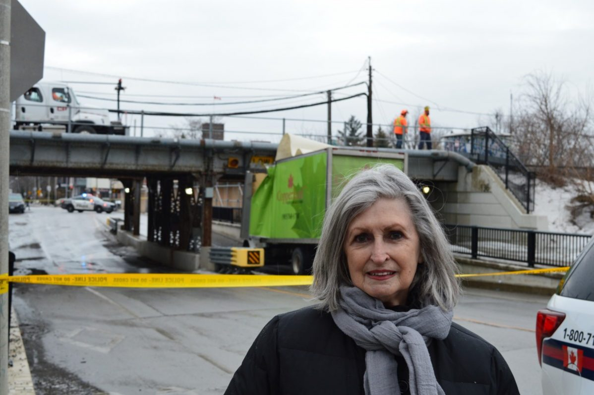 "Karlsson provided police with a six-page document she made recording each ""bridge hit"" that occurred since March 27, 2018 to March 14, 2019. Since last year there have been 35 bridge hitting incidents at this location according to her records. Photo: Timo Cheah / The Dialog."