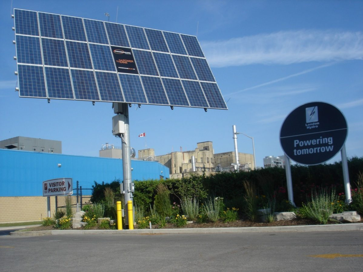 A solar panel installed at the Labatt's Brewery in London, Ontario. Photo: Flickr creative commons