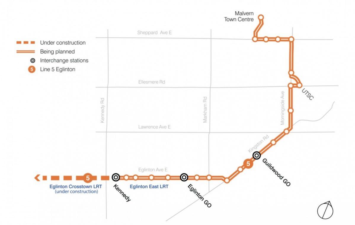 Eglinton Subway Map.3 9b For Scarborough Subway No Money For Eglinton East Lrt