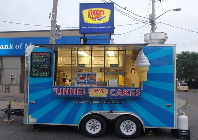 Police are looking for a thief with a sweet tooth who swiped a trailer from Funnel Cake Express.