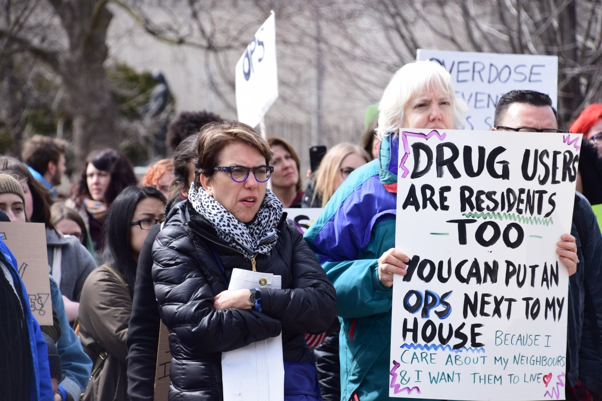 Protesters Rally For Overdose Prevention Sites